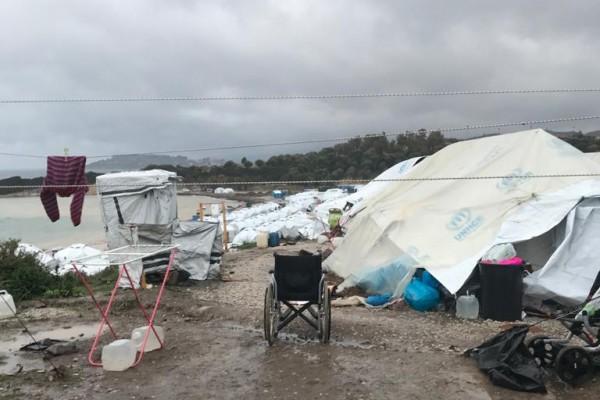 Kara Tepe Flüchtlingslager im Winter